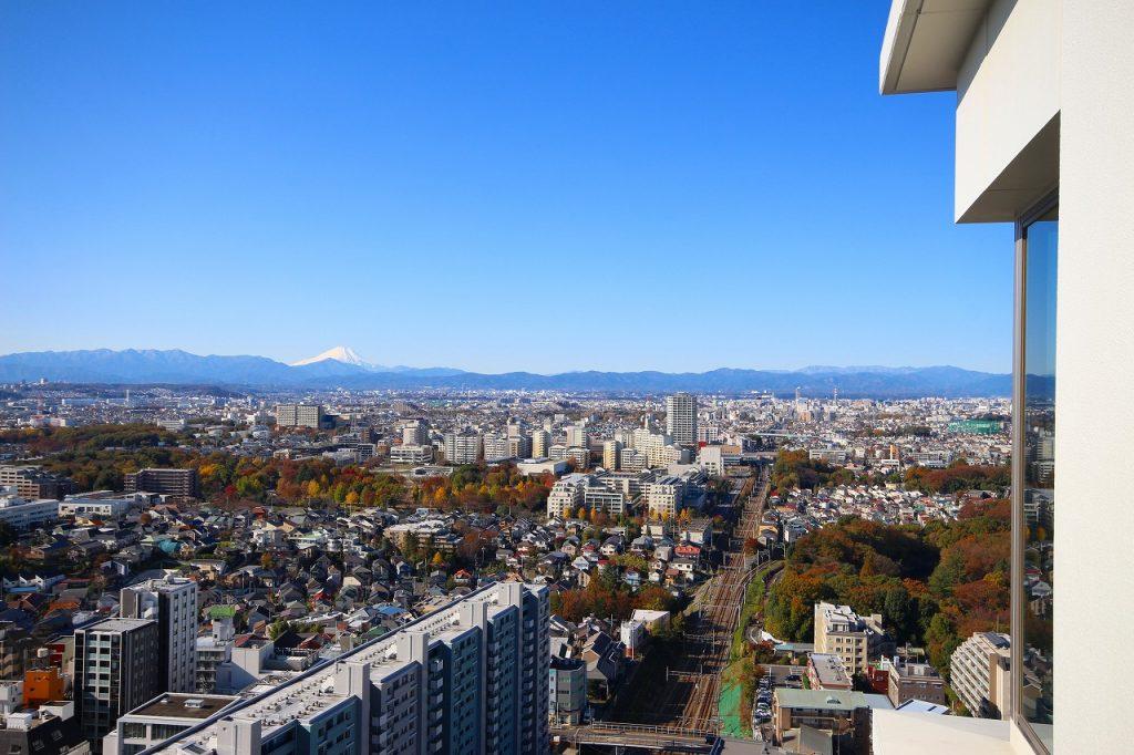 バルコニーから見た富士山