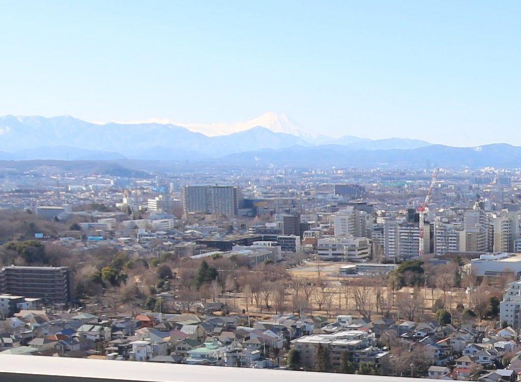 W-70Jタイプモデルルームから富士山を望む